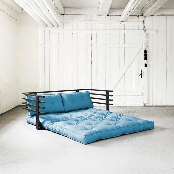 Canapea extensibilă Karup Funk Black/Horizon Blue