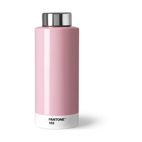 Svetloružová fľaša z antikoro ocele Pantone, 630 ml