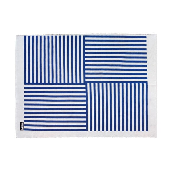 Koberec Lona Print 200x150 cm, modrý/bílý