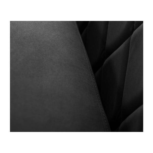 Černá trojmístná pohovka Scandi by Stella Cadente Maison Diva