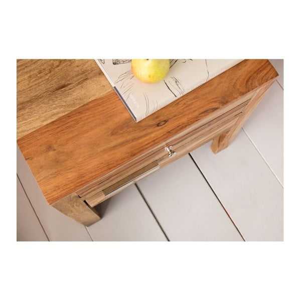Dřevěný noční stolek Kare Design Authentico, 50 x 50 cm