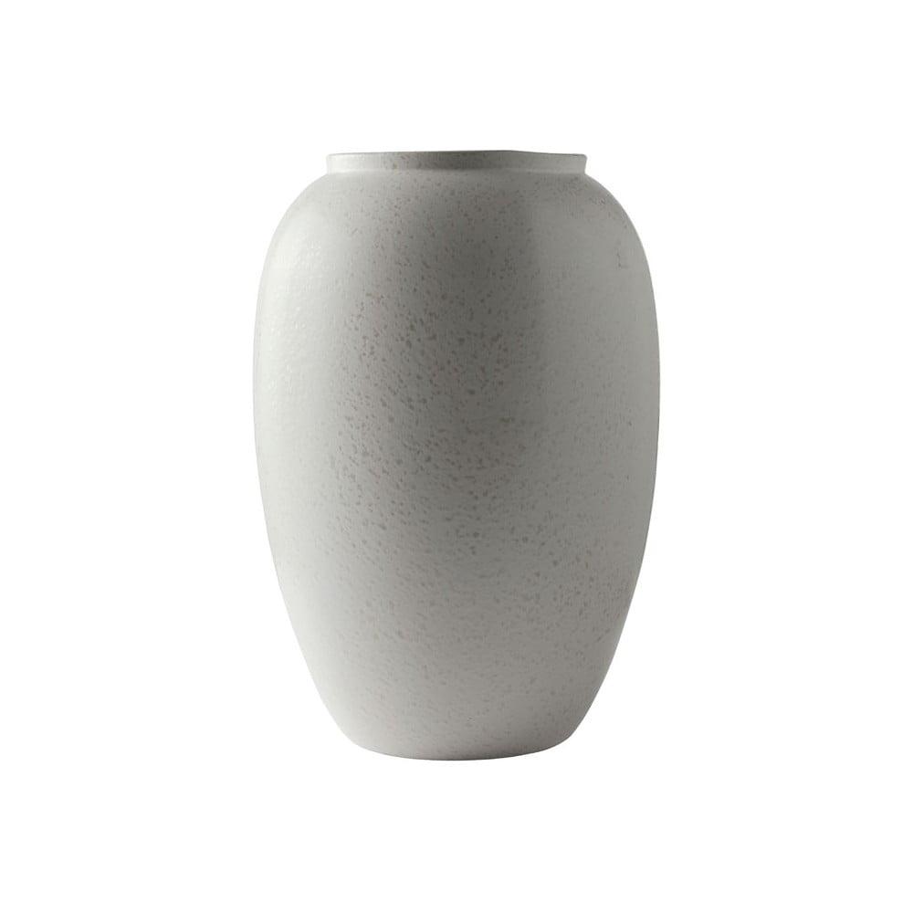 Krémová kameninová váza Bitz Basics Matte Cream, výška 50 cm