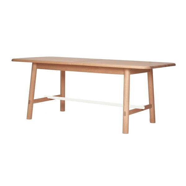 Rozkládací stůl z dubového dřeva s bílou příčkou HARTÔ Helene, šířka190 - 240 cm