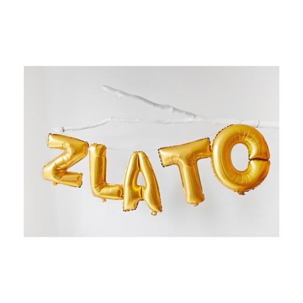Balónek C zlaté, 30 cm