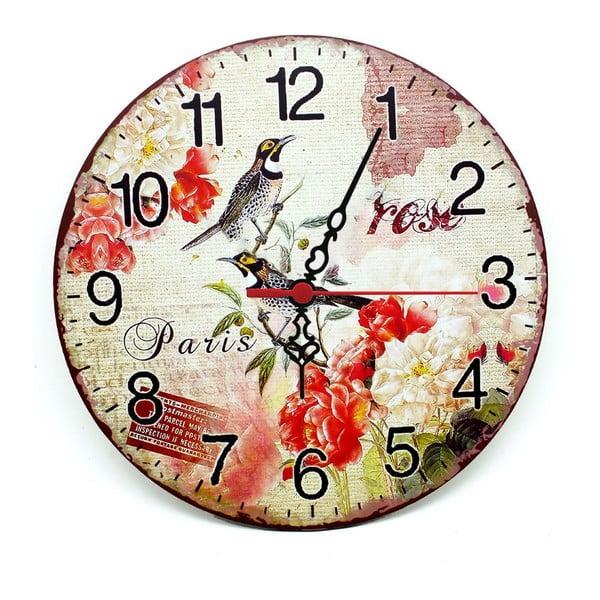 Nástěnné hodiny Rose Paris, 30 cm