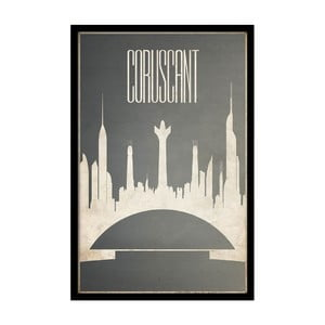 Plakát Coruscant, 35x30 cm