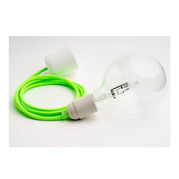 Barevný  kabel Loft se žárovkou, limetka