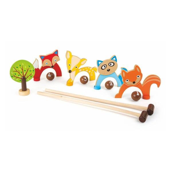 Dřevěný kroket Legler Forest Animals