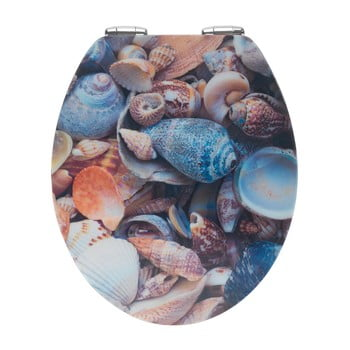 Capac WC din lemn 3D Wenko Sea Shell, 44,5 x 38 cm imagine