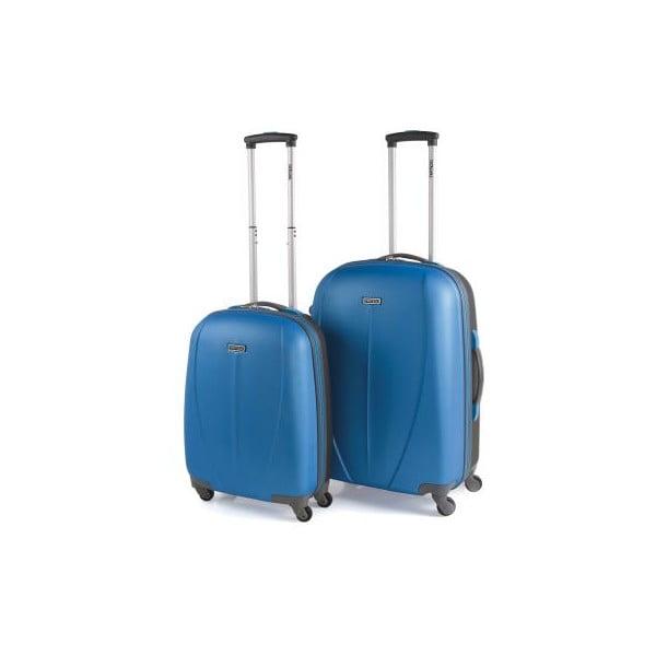 Sada 2 modrých cestovních kufrů Tempo