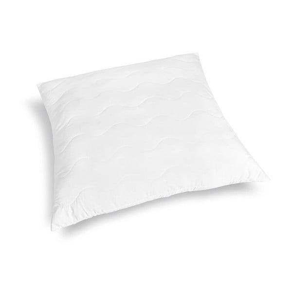 Biely prešívaný vankúš z mikrovlákna DecoKing Inez, 80 x 80 cm
