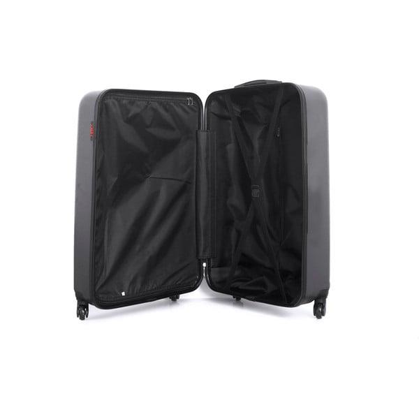 Tmavě šedý cestovní kufr na kolečkách Hero Ioulia, 37 l