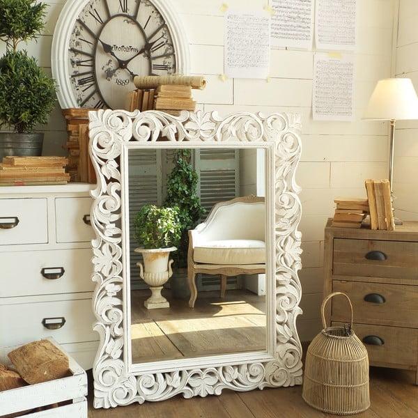 Zrcadlo Antique White Leaves