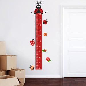 Samolepkový metr na zeď Metr s beruškami, 160 cm