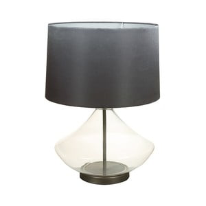 Černá stolní lampa s křišťálovou základnou SantiagoPons Legans