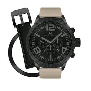 Pánské hodinky Marc Coblen s páskem a kroužkem navíc P60