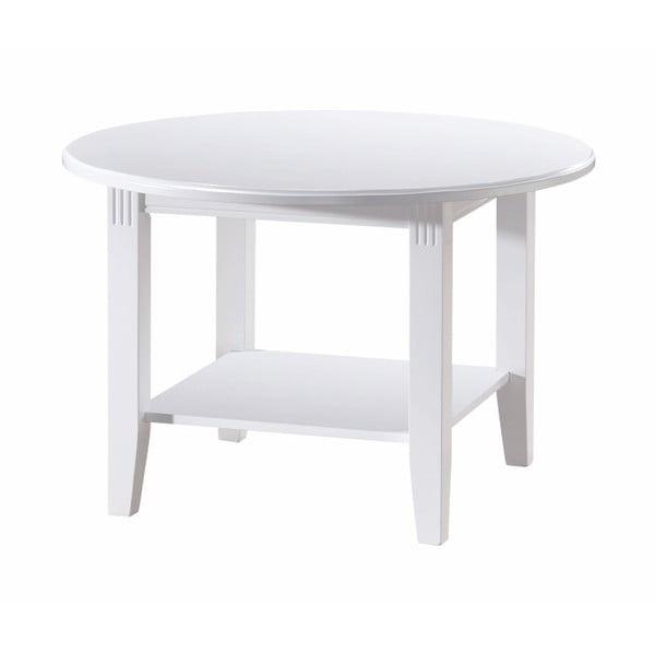 Biały stolik z drewna dębowego Rowico Wittskar, ∅80cm