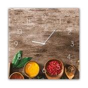 Ceas de perete Styler Glassclock Pepper, 30 x 30 cm