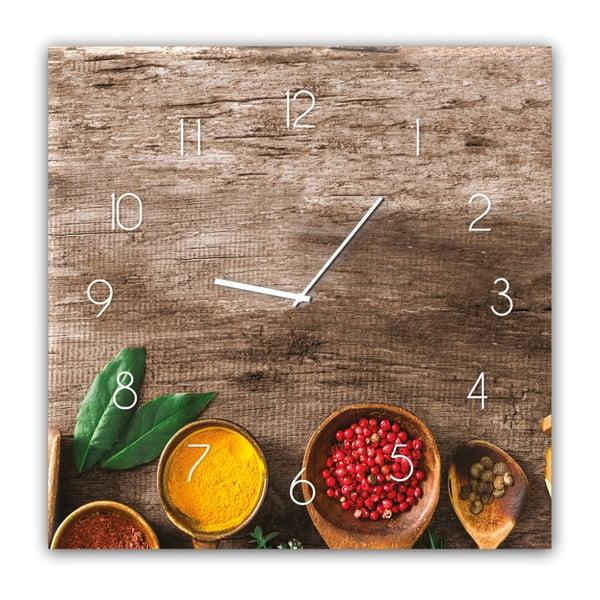 Glassclock Pepper falióra, 30 x 30 cm - Styler