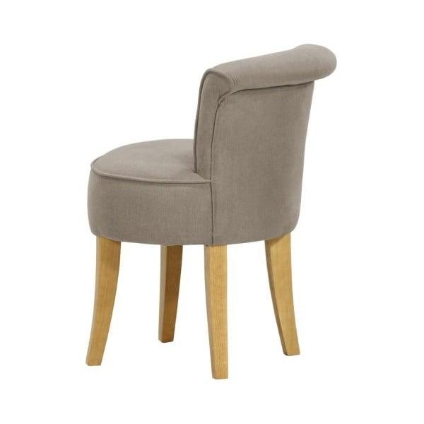 Sada 2 židlí George Soro Grey s tyrkysovými knoflíky