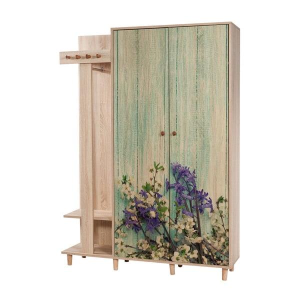 Garmanto Garden barna előszoba szekrény, magasság 194 cm
