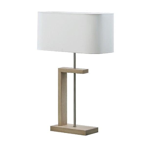 Stolní lampa Nateza, hnědá