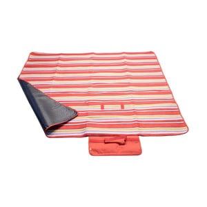 Červená pikniková deka Cattara Fleece, 150 x 135 cm