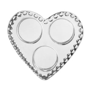 Svícen Pearl Heart, 12x12x3 cm