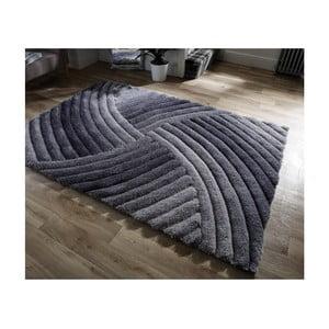 Šedý koberec Flair Rugs Furrow Grey, 160 x 230 cm