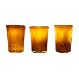 Set tří sklenic, medové