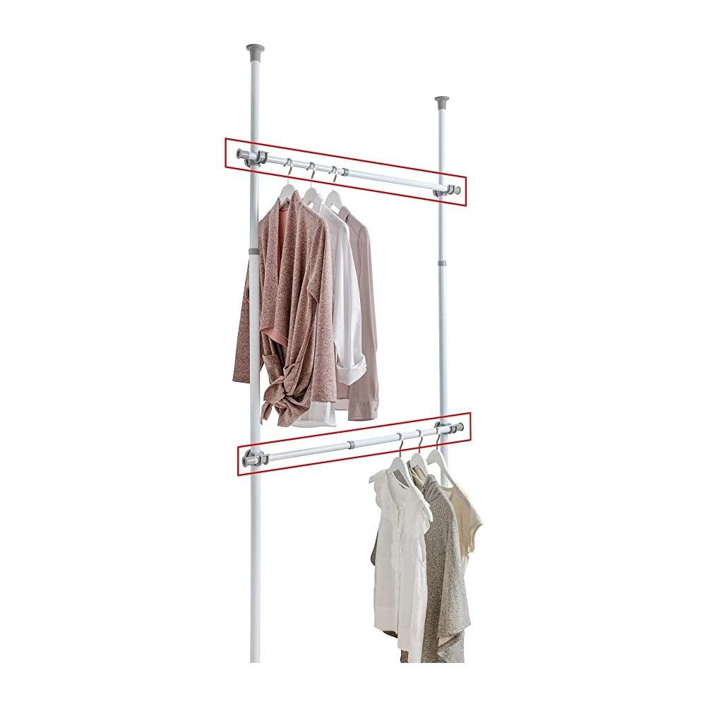 Produktové foto Sada 2 teleskopických tyčí na oblečení Wenko Herkules, délka 75 - 120 cm