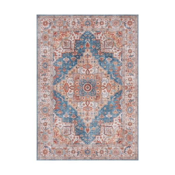 Modro-červený koberec Nouristan Sylla, 160 x 230 cm