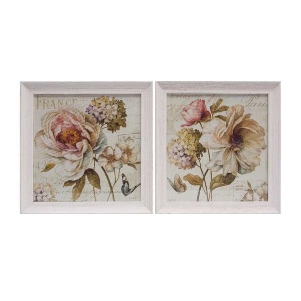 Set 2 obrazů Vintage Rose