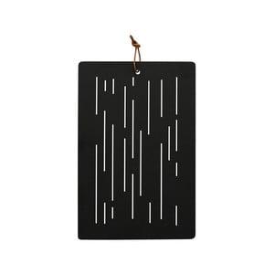Černé dřevěné krájecí prkénko OYOY Geeni