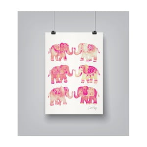 Poster Americanflat Ellephant Collection Blush, 30 x 42 cm