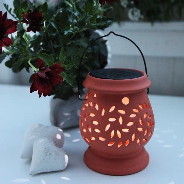 Oranžová LED lucerna Best Season Clay