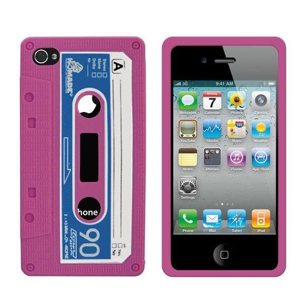 Retro obal na iPhone 4/4S Cassette, růžový