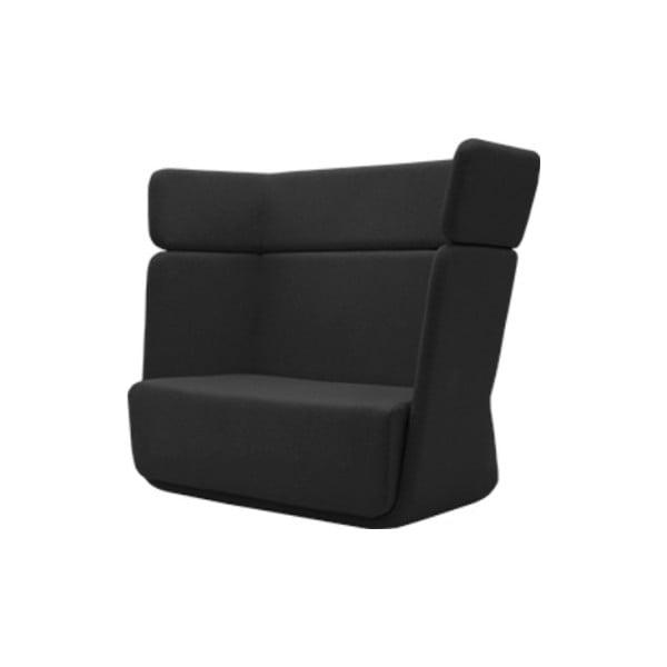 Ciemnoszary fotel Softline Basket Eco Cotton Grey