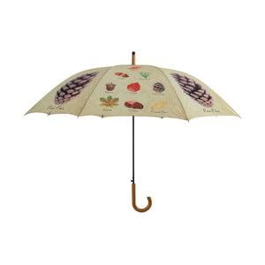 Holový deštník s designem listů a plodu Esschert Design, ø120cm