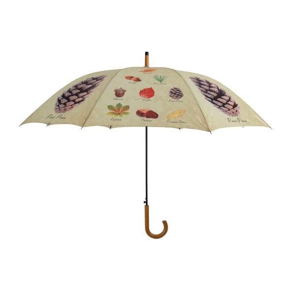 Tyčový dáždnik s dizajnom listov a plodov Esschert Design, ø 120 cm
