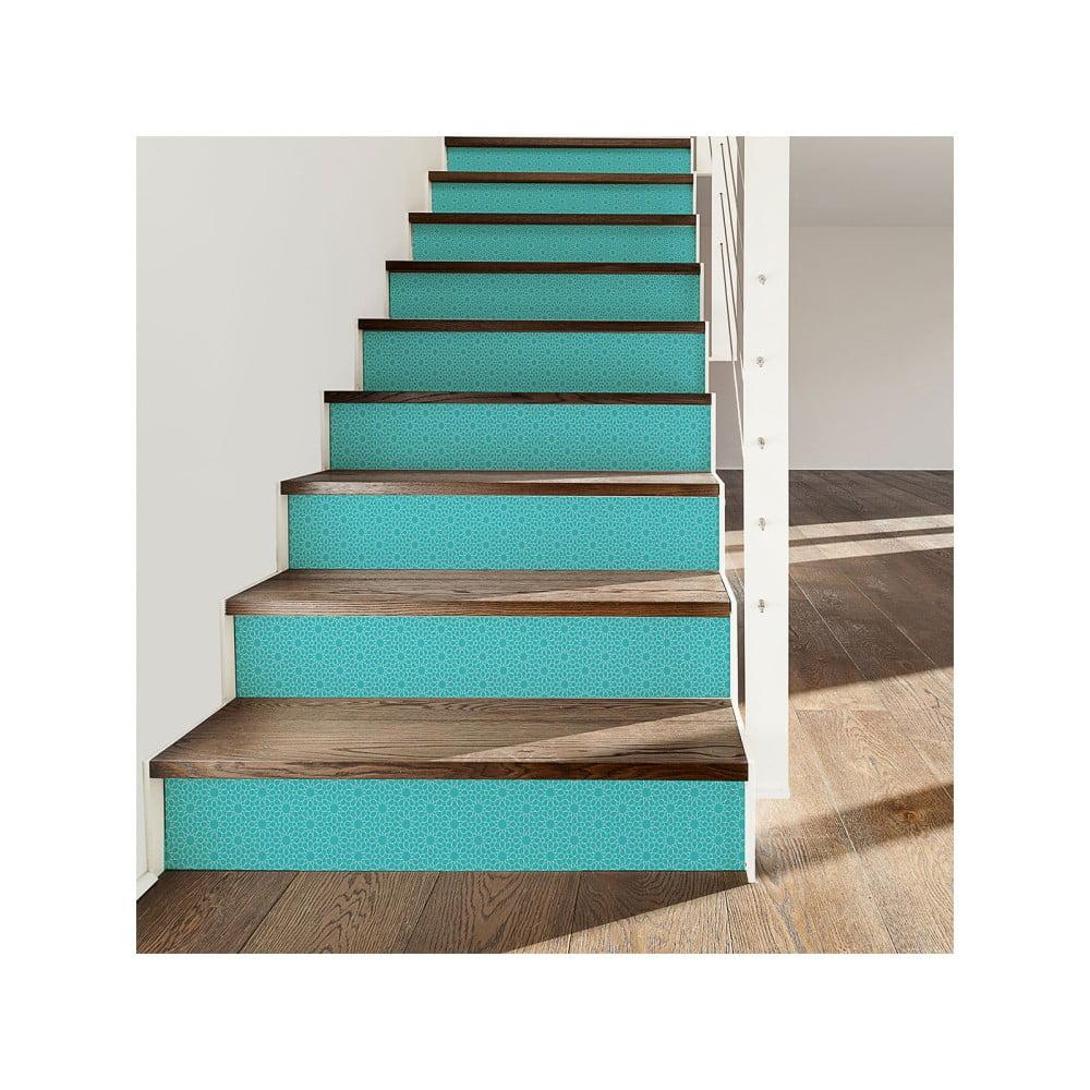 Sada 2 samolepek na schody Ambiance Stairs Stickers Metten, 15 x 105 cm