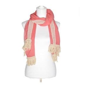 Šátek BLE Inart 70x180 cm, růžový