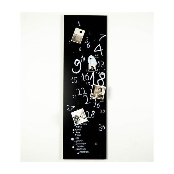 Magnetický kalendář Krok Black, 30x100 cm