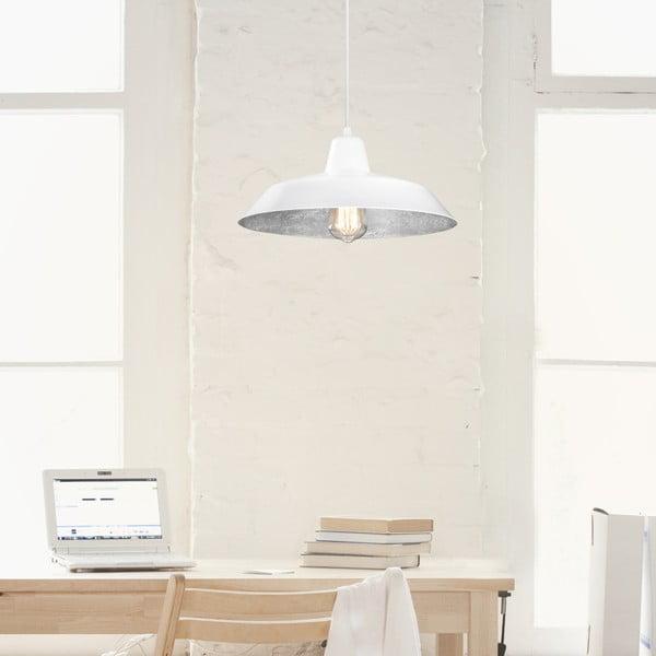 Bílostříbrné závěsné svítidlo Bulb Attack Cinco