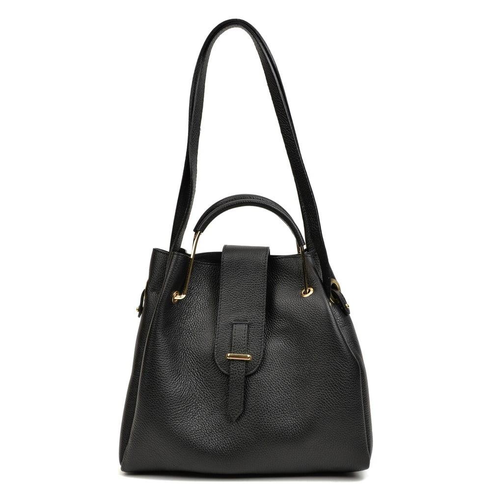 Černá kožená kabelka Roberta M Luisa