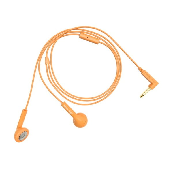 Sluchátka Happy Plugs, oranžová