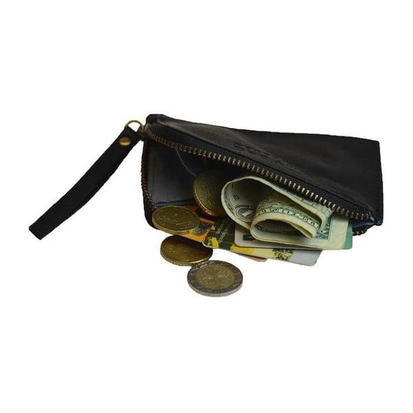 Černá kožená peněženka na drobné O My Bag Coin Purse