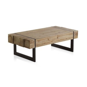 Dřevěný konferenční stolek s kovovými nohami Geese Robust, 120 x 60 cm