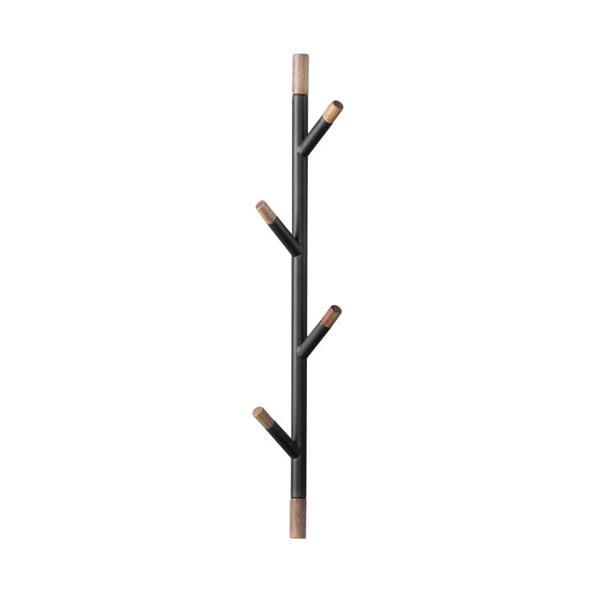Czarny wieszak ścienny z drewna akacjowego PT LIVING