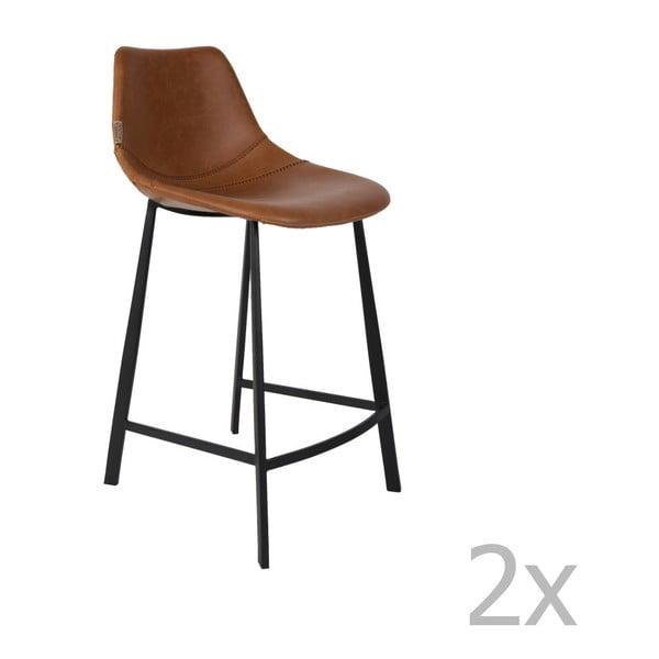Set 2 scaune bar Dutchbone Franky, înălțime 91 cm, maro
